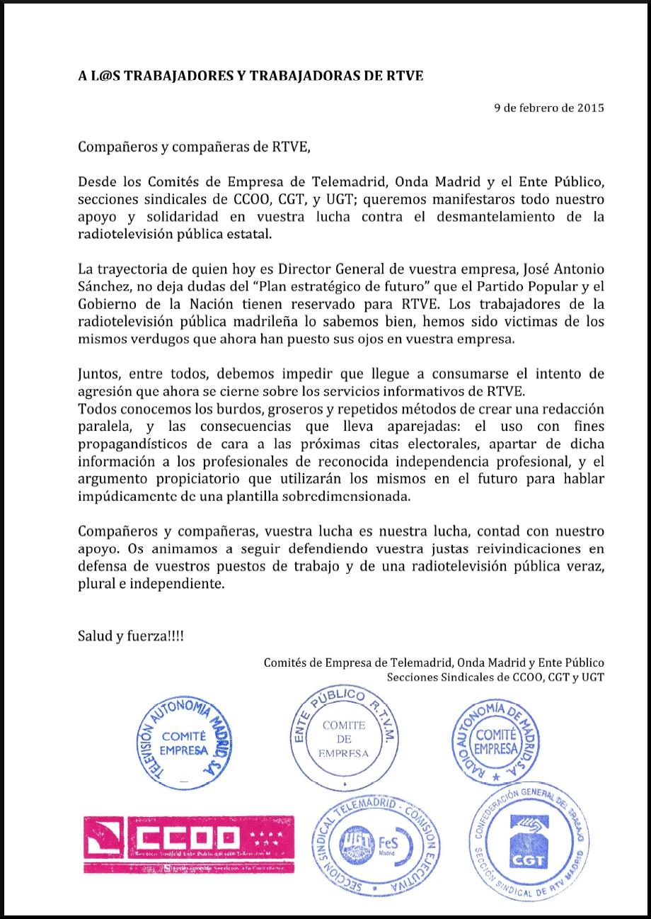 CGT-MEDIOS   Sección sindical de CGT en RTVE